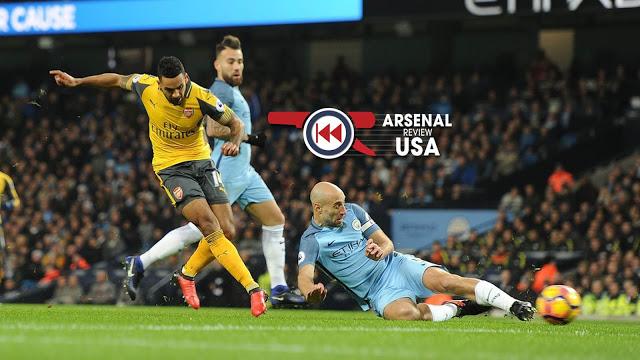 Theo Walcott Goal Against Manchester City